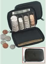 buxton Black Leather Coin Sorter Change Purse Wallet ...