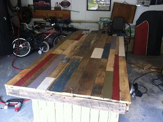 A couple months ago I started mentioning that I'd like ... ummm, I wanted a farmhouse table for our dining room. Settling for a ...