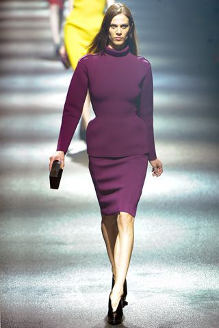 Great colors and structure for Fall at Lanvin, PFW Fall 2012