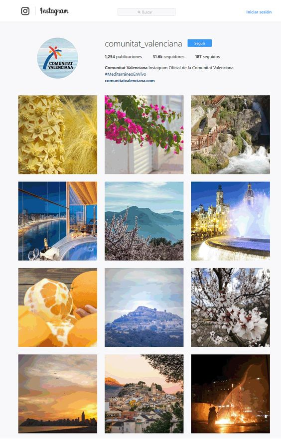 Comunitat Valenciana perfil Instagram