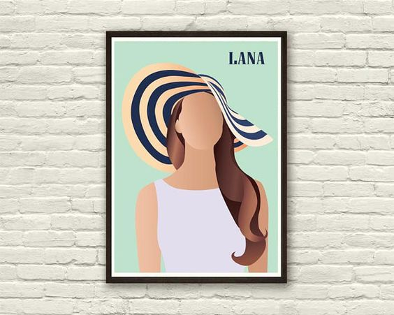 LANA DEL REY poster   Digitally printed on acid free paper, professional quality. Paper size 8x11 in The watermark doesn't appear in the prints.