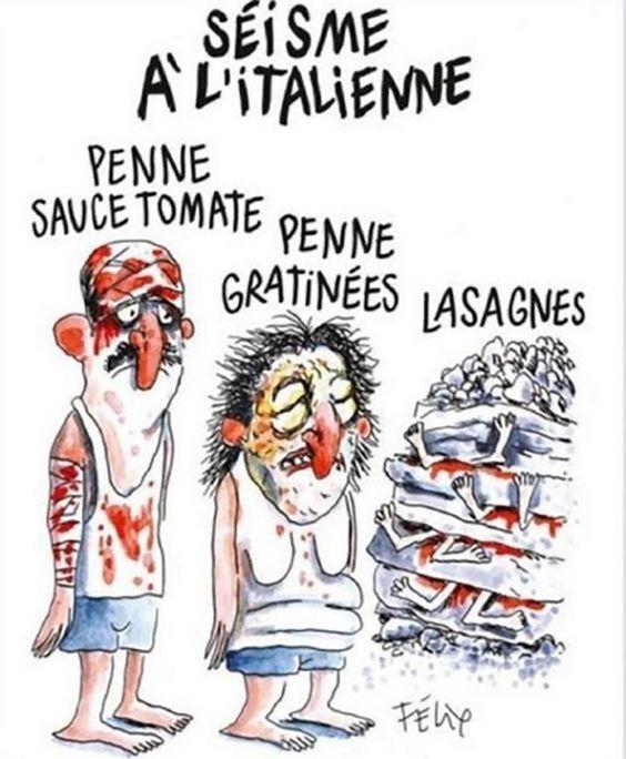 'Walgelijke' Charlie Hebdo-cartoon over aardbeving zorgt voor ophef in Italië…: