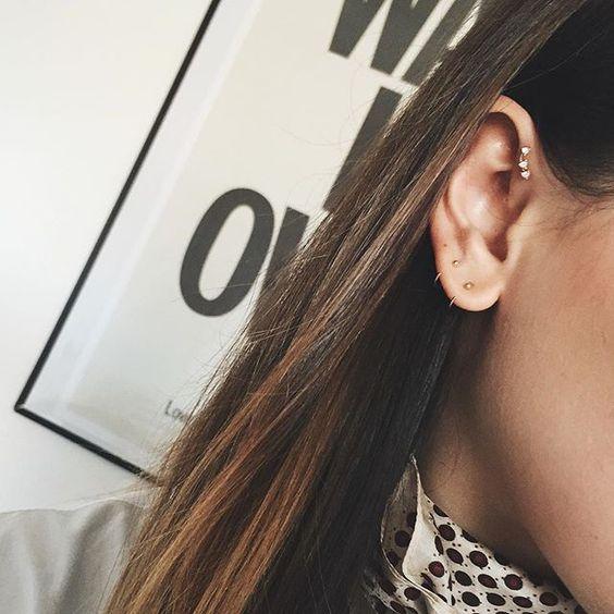 neck scarves & delicate little earrings lately  #earfie