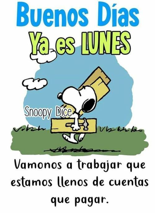 Buenos Dias Snoopy Imagenes Con Mensajes Feliz Inicio Semana Gif