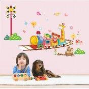 Cartoon Train Removable Wall Stickers Kid's Room & Nursery Creative Decals