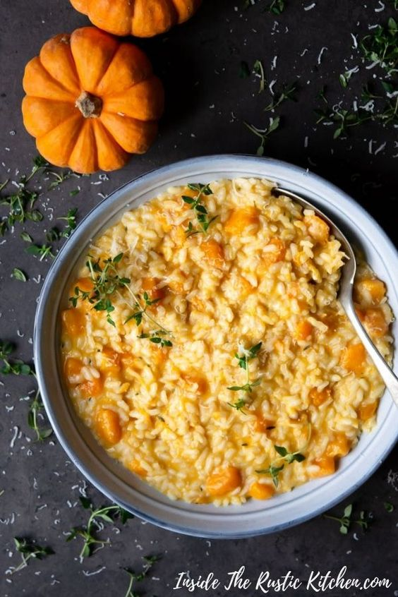 Butternut Squash Risotto With Thyme