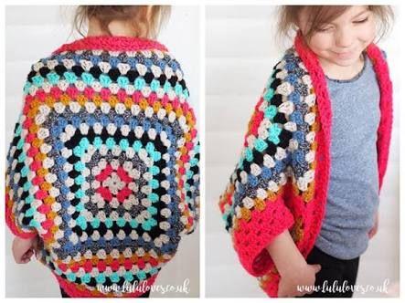 Canto do Pano Artesanato: Casaco Crochê feito com 1 Square