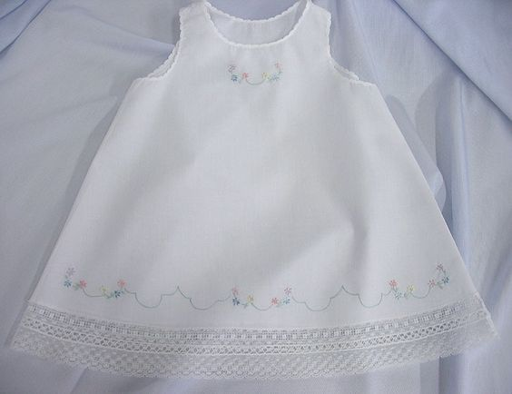 Ms. Dot&39s White Nelona Embroidered Baby Dress (Old. Fash. Baby ...