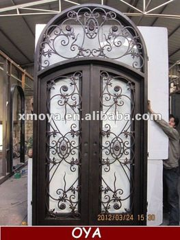 French steel main safety door design window insert buy for French main door designs