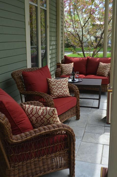 Come Enjoy Our New Porch Furniture And Relax To The Sound