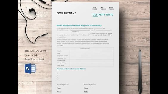 Delivery Note Format Excel Template Templates Pinterest - delivery note template