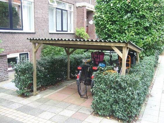 Afdak voor fietsen in de voortuin - Tuin : Pinterest