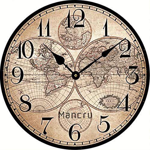 Bureau Chambre OviTop 60cm Horloge Murale XXXL Pendule Industriel Horloge Silensieuse Horloge Decorative pour Salon Salle