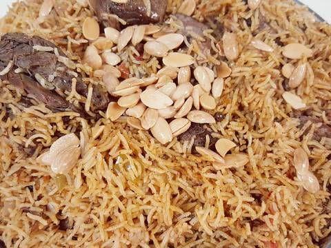 كبسة لحم بالصور من وصفات أم محمد الوردة البيضاء 1 Recipe Recipe Steps Traditional Food Recipes
