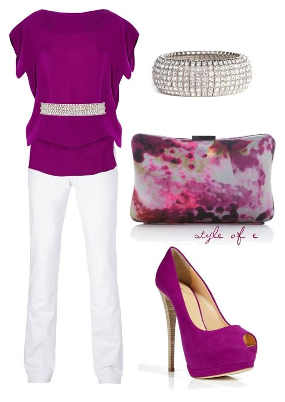"""Magenta"" by styleofe ❤ liked on Polyvore featuring Karen Millen, D&G, Antonio Berardi, Giuseppe Zanotti, Coast, Tasha, women's clothing, women, female and woman"