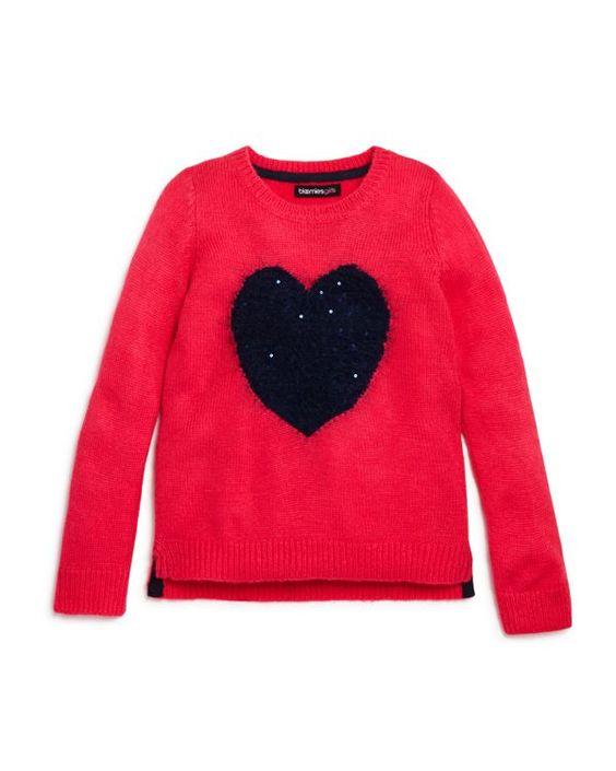 Bloomie's Girls' Heart Sweater - Sizes 2-6X