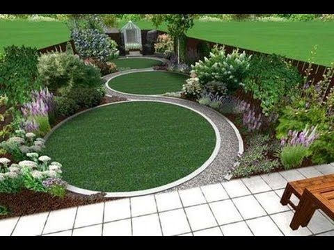 Small Space Garden Landscapes Ideas Youtube Circular Garden Design Garden Design London Landscape Design