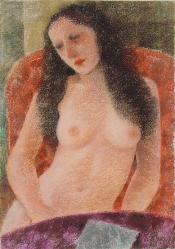Recuerdo sutil, 1995, pastel sobre papel, 70 x 50 cm.