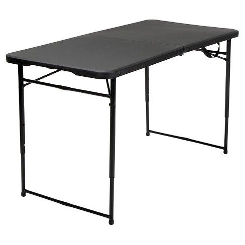 4 Indoor Outdoor Adjustable Height Folding Tailgate Table Cosco