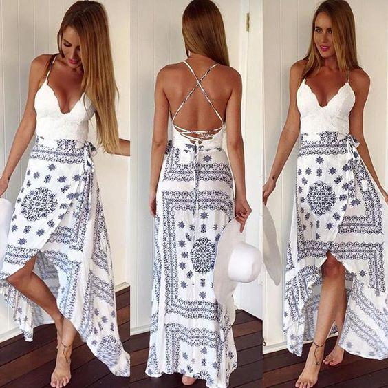 Dream i as in a white dress
