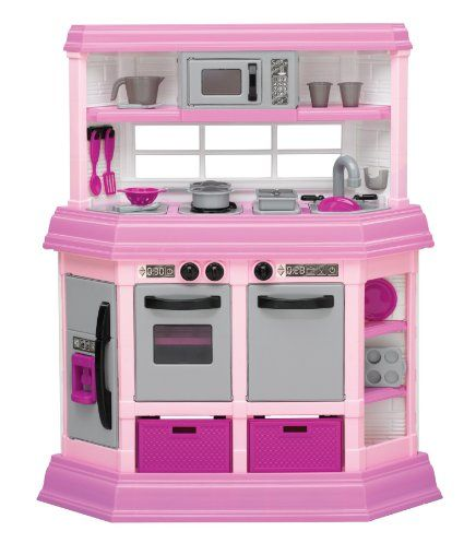 Amazon.com: American Plastic Toy Deluxe Custom - approx $50  Mini G loves it! I love the bubbling sound the burners make when you set the pots on them.