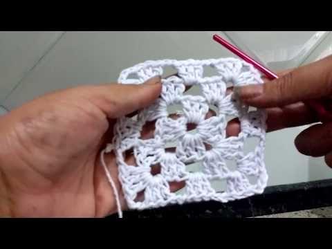 Como Fazer Crochê Quadrado Passo A Passo 1 Youtube Quadrados De Croche Como Fazer Crochê Quadrado Fazer Croche