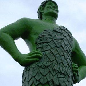 Jolly green giant statue in blue earth minnesota