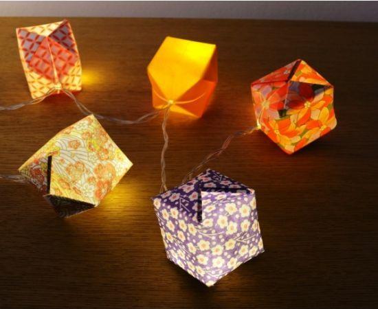 guirlandes origamis
