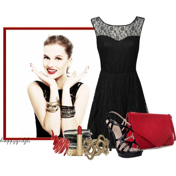 """RED, RED SMILE"" by happygirljlc on Polyvore"
