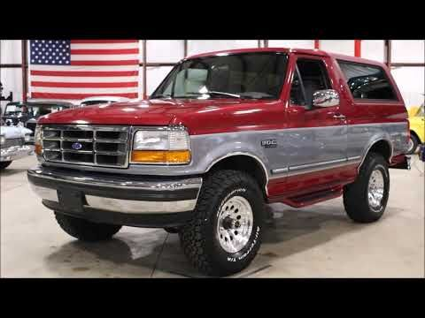 1995 Ford Bronco Red Gray Youtube En 2020