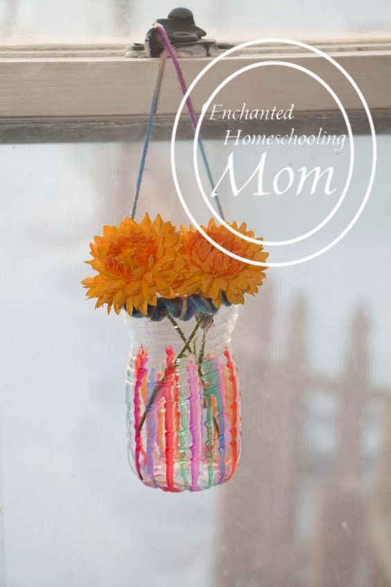 Sun Catcher Vases - Enchanted Homeschooling Mom