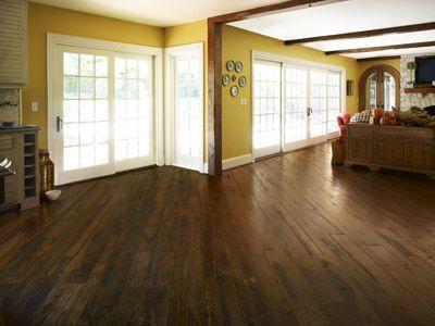 Angled wood floors