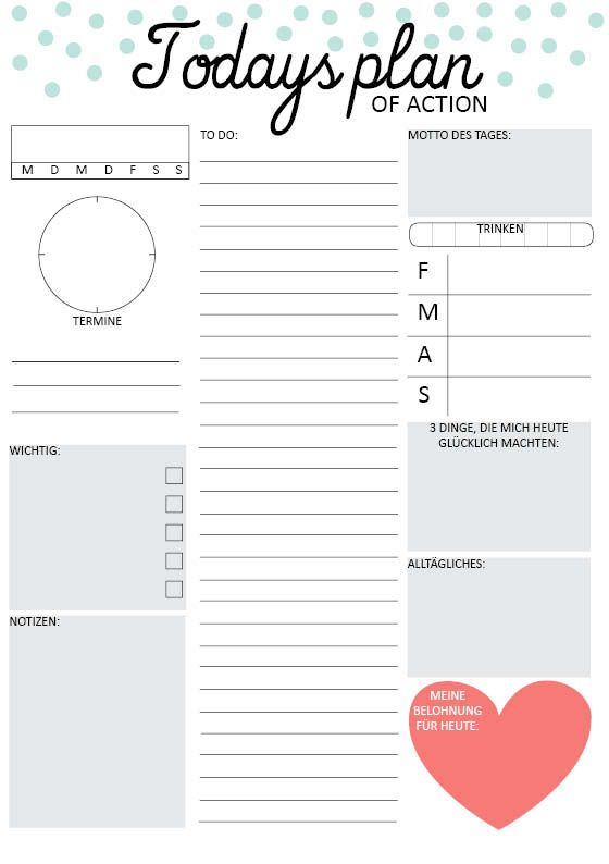 Daily Planners Daily Planner Printable And Planners On