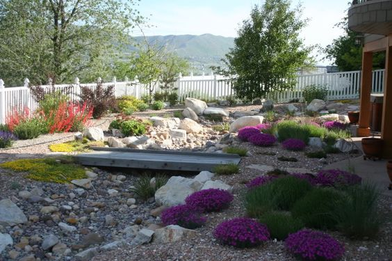 Utah stream bed and landscapes on pinterest for Landscape design utah