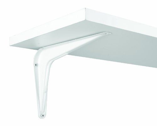 """John Sterling RP-0026-6X8WT Utility Bracket, White, 6-Inch by 8-Inch by John Sterling. $5.99. Holds up to 150lbs per pair when properly installed. Durable powder coat finish. 6"""" by 8"""" Length. The John Sterling Classic """"L"""" Shape design utility bracket makes these brackets perfect for inside or outside the home. Holds up to 150lbs per pair when properly installed. Durable powder coat finish."""