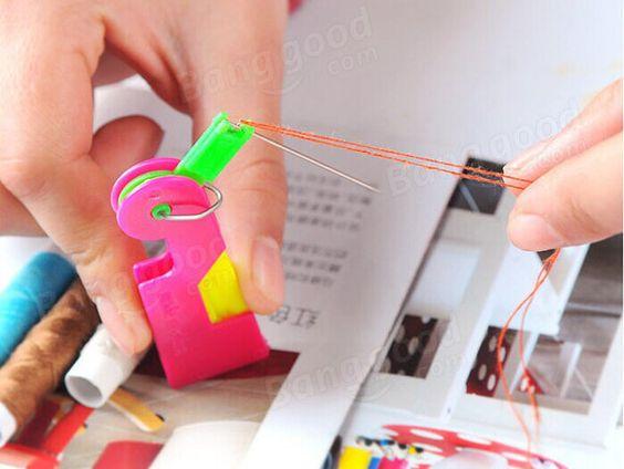 Automatic Needle Threader Thread Guide Elderly Use Needle Device Needle Threaders Sewing Thread Needle
