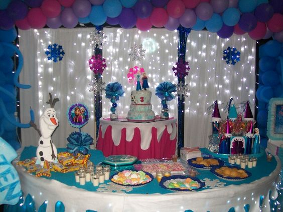 17 best images about serena 39 s birthday frozen and mesas - Decoracion con luces ...