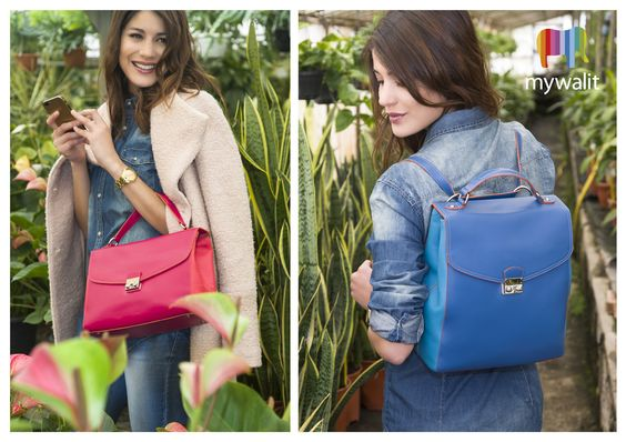 NEW! Our London collection in bold, colourful leathers. Two iconic styles with a signature metal front-lock detail.