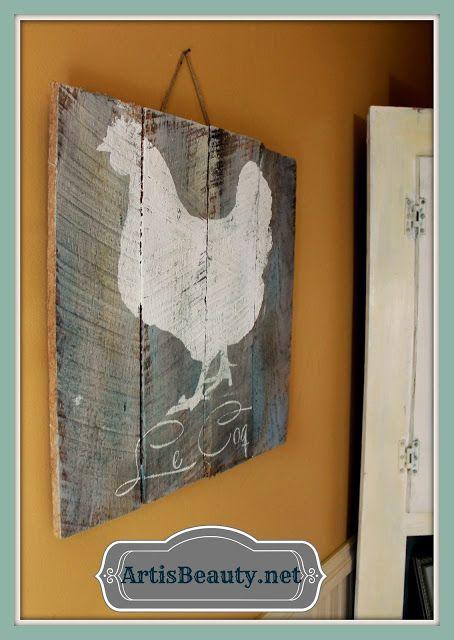 ART IS BEAUTY: Français poulet / coq Palette Art