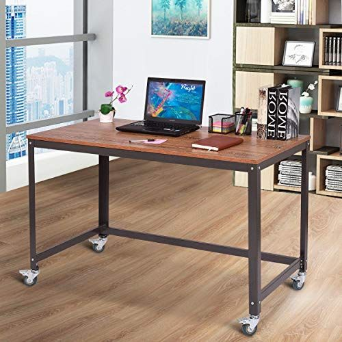 Tangkula Computer Desk Wood Portable Compact Simple Style Home