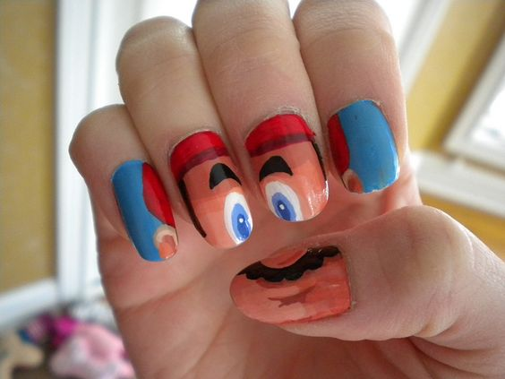 It's a-me, Mario! nail art done by Nick :)