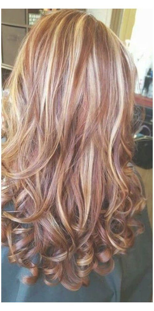 Dark Blonde Hair With Red Highlights Hair Highlights And Lowlights Caramel Red Hair Highlights And Lowlights Red Blonde Hair Blonde Hair With Highlights
