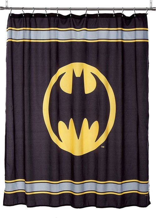 Batman Logo Shower Curtain This Warner Bros Batman Microfiber