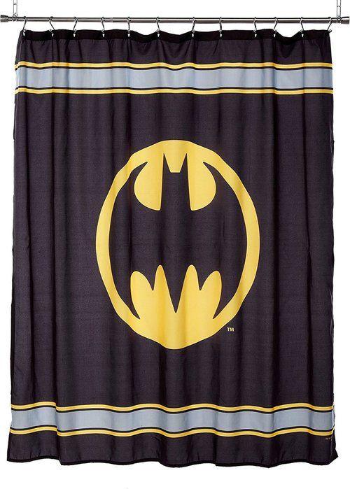 Batman Logo Shower Curtain This Warner Bros Batman Microfiber