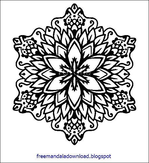 Pin Auf Komplizierte Mandala Malvorlagen