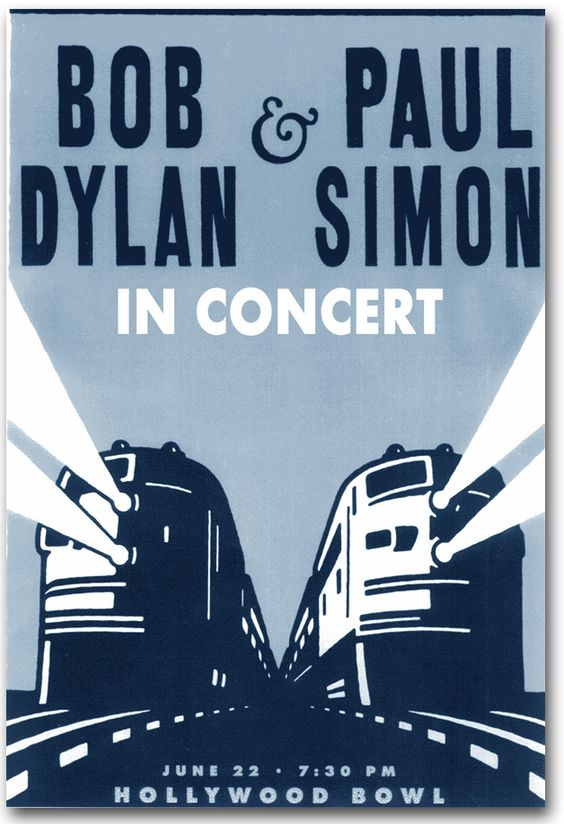 Bob Dylan Paul Simon Poster Concert $9.84 #Paulsimon #BobDylan
