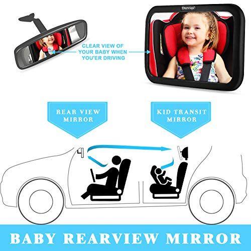 Car Seat Mirror Baby Car Mirror Monitor Infant Child in Rear Facing Car Seat