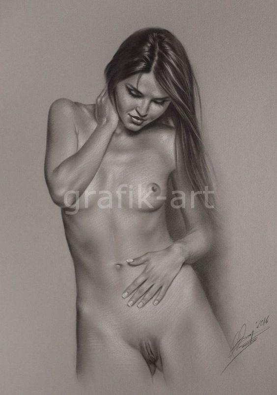 Frauenakt*** Female Nude nu Pastel by grafik-art***no 1729