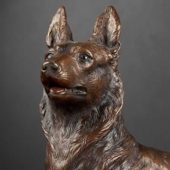 Frans-xavier bergmann. bronze Dog
