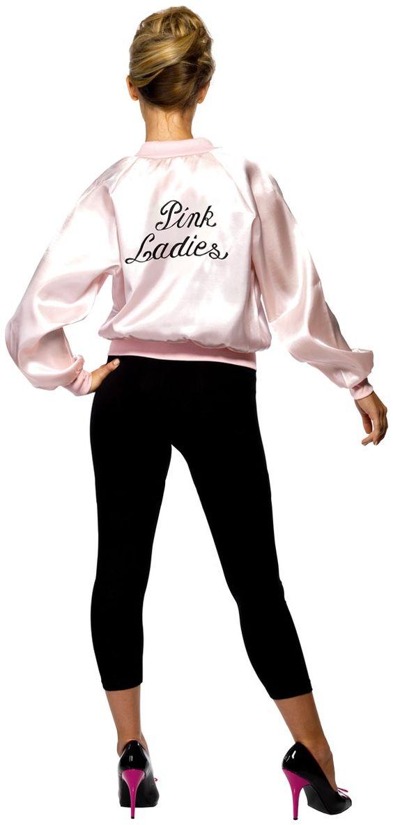 Ladies Grease Pink Lady Jacket Amazing Low Price @ www